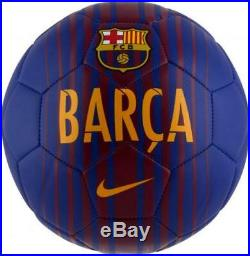 Lionel Messi Barcelona Autographed Soccer Ball ICONS