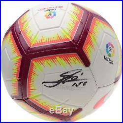 Lionel Messi FC Barcelona Signed Nike Pitch La Liga Soccer Ball Fanatics