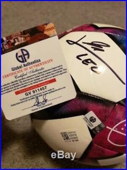 Lionel Messi F. C. Barcelona Autographed Adidas MLS Soccer Ball withGA coa