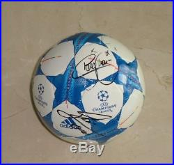 Lionel Messi & Neymar Jr hand autographed signed Champions Ball WithCOA Barcelona