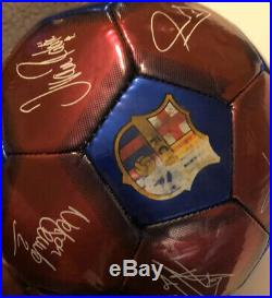 Lionel Messi Signed Fc Barcelona Soccer Ball Coa