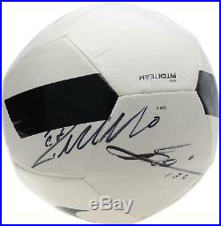 Lionel Messi and Cristiano Ronaldo Signed Black & White Nike Pitch Soccer Ball