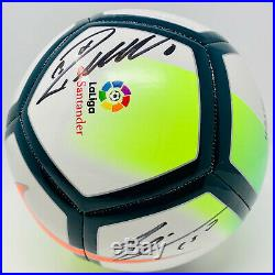 Lionel Messi and Cristiano Ronaldo Signed Nike La Liga Soccer Ball Beckett BAS