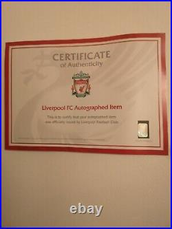 Liverpool FC Autographed Football Signed 2014 Bag Authenticity Certificate Mint