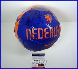 Louis Van Gaal Manchester Signed Autograph Netherlands Soccer Ball Psa/dna Coa