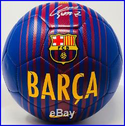 Luis Suarez Signed Barcelona Barca Nike Soccer Ball Beckett Bas Witness