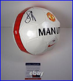 Luke Shaw England Signed Autograph Manchester United Soccer Ball PSA/DNA COA