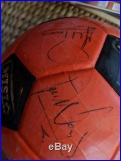 MISL Wichita Wings Lot- 2 balls & 1 pennant (signed), 1 mat, 1 calendar, 1 toy