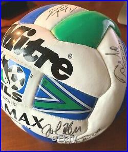 Major League Soccer Dallas Burn-FC Dallas Official 1996 Match Ball Fully Signed