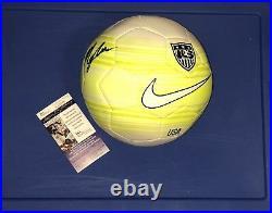 Mallory Pugh Signed USA Soccer Ball Auto Jsa Rare