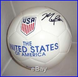 Mallory Pugh USA Womens Soccer signed Team USA Soccer Ball autographed Proof
