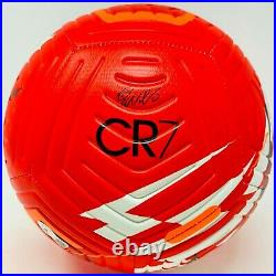 Manchester United Cristiano Ronaldo Signed Nike CR7 Ball MANU Beckett Witnessed