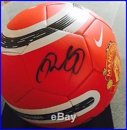 Manchester United Nike Signed Ball Wayne Rooney Ryan Giggs Rio Ferdinand auto