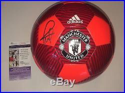 Manchester United Paul Pogba Signed Soccer Ball Futbol Juventud JSA CERT PROOF