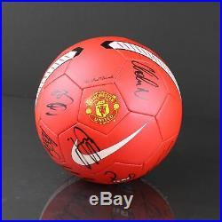 Manchester United Squad Signed Football Ball Autograph Soccer Memorabilia COA