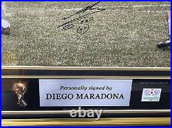 Maradona Dual Collection Legendary Signed Frame And 1986 Signed Ball Icons
