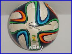 Mario Gotze Signed 2014 World Cup Soccer Ball Borussia Dortmund Proof Jsa Coa
