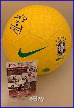 Marta Vieira da Silva signed Nike Brasil Prestige Soccer Ball Brazil Proof JSA