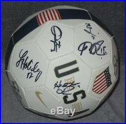 Megan Rapinoe Signed Auto'd Team Uswnt Soccer Ball Kelly O'hara Sydney Leroux +