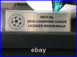 Messi Champions League Licensed Signed Ball In Acrylic Case (C. O. A) ICONS