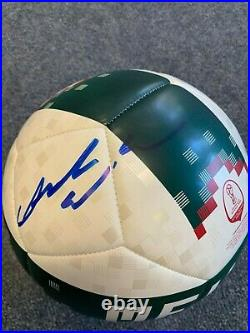 Mexico World Cup Carlos Vela Autographed Signed Size 5 Soccer Ball COA