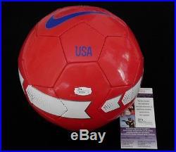 Mia Hamm Autographed Soccer Ball (team Usa) Jsa Coa