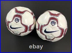 Mia Hamm Brandi Chastain Signed Olympics USA Nike Soccer Ball USWNT PSA Lot Of 2