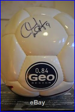 Mia Hamm Signed Nike Geo Soccer Ball With Certificate of Authenticity NIB
