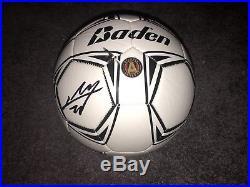 Miguel Almiron Hand Signed Autographed Atlanta Fc Logo Soccer Ball Coa Mls