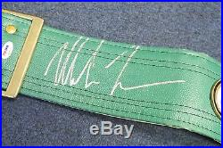 Mike Tyson Signed Full Size Boxing Belt AUTO Autograph PSA/DNA COA HOF