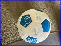 Minnesota Kicks 1979 Signed Soccer Ball
