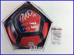 Morgan Brian Autograph US Womans Soccer Ball Signed JSA COA