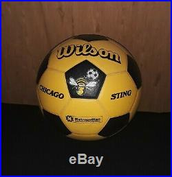 NASL Chicago Sting, Wilson Soccer Ball, 1980s, autographed