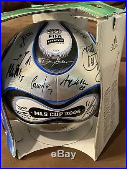 NEW Adidas +TEAMGEIST MLS CUP 2006 Autographed Ball