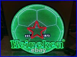 New Heineken 2 Tier Soccer Ball Led Sign-est 1873-amsterdam-bar Light-beer-lager