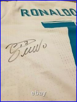 New Ronaldo Real Madrid Signed 2017 Jersey + Coa + Proof