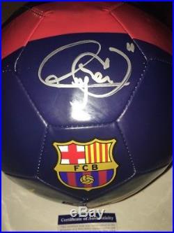 Neymar Brazil Barcelona MLS Full Size Soccer Ball Auto Autographed PSA
