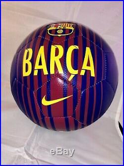 Neymar Hand Signed Barcelona Soccer Ball Barca Psa Dna Cert