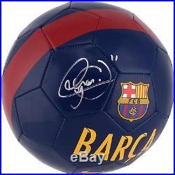 Neymar Santos Barcelona Autographed Barcelona Logo Soccer Ball
