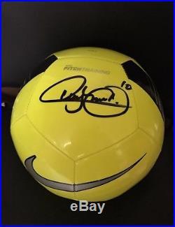 Neymar Signed Autographed Soccer Ball COA