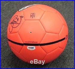 Neymar Signed Full Size NIKE Orange Soccer Ball Autograph AUTO PSA/DNA COA