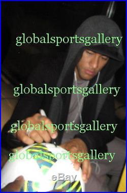 Neymar signed 2016 Olympics soccer ball football Brazil Brasil Barcelona Proof
