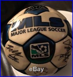 Official match ball MLS-Kappa-Team Signed 2004 Colorado Rapids Autos Rare