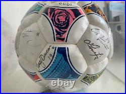 Official match ball signed by 1999 FIFA Womens World Cup Team USA Champions