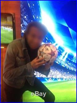 Olympiakos signed autographed Adidas ball UEFA Champions league OSFP vs Atletico