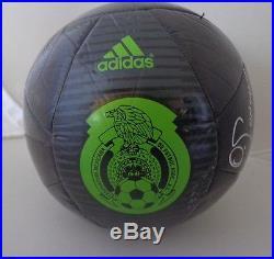 Oswaldo Sanchez signed Adidas Size 5 Black Mexico Soccer Ball autographed
