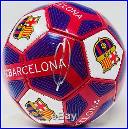 Ousmane Dembele Autographed Barcelona Soccer Ball BAS Beckett