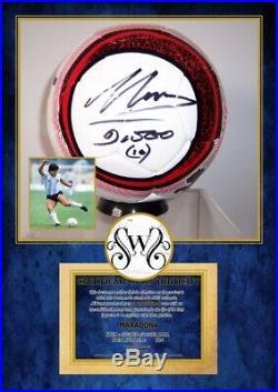 PALLONE DIEGO ARMANDO MARADONA ARGENTINA Autografato Signed + COA BALL ARGENTINA