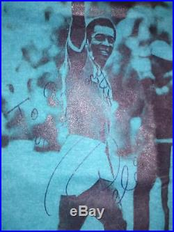 PELE Autographed Soccer Ball and T-Shirt