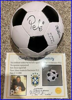 PELE Autographed Soccer ball-Photo Cert Brazil CBF- Low Reserve